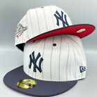 Yankees 1996 World Series 59FIFTY New Era Pinstripe Fitted Hat Cap Red Bottom