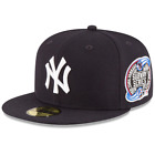 New York Yankees World Series Wool Team New Era Navy 59FIFTY Fitted Hat