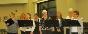 (From Left to Right) Mary Pa Bierlet, Jo Ann Lambertz., Janine Tramp, Jennifer Powell, Lea Ann Schramm, Linda Stevens, Celia Miner, Kathy Grow