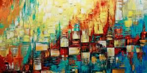 Peinture abstraite évoquant le tempo