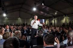 18 septembre 2016, Sète (34), FRANCE. Meeting de lancement de la campagne des primaires Les Républicains de Bruno Lemaire à Sète et présentation de son contrat présidentiel.