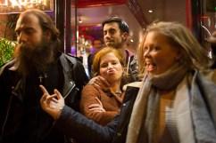 6 novembre 2015, Paris, FRANCE. Des jeunes militants de l'Action Française, un groupe royaliste et nationaliste, sortent dans un bar aux abords des locaux de l'association. Tous les vendredis, ils se retrouvent pour un cercle de lecture et sortent ensuite ensemble, comme tous les jeunes de leurs âges.