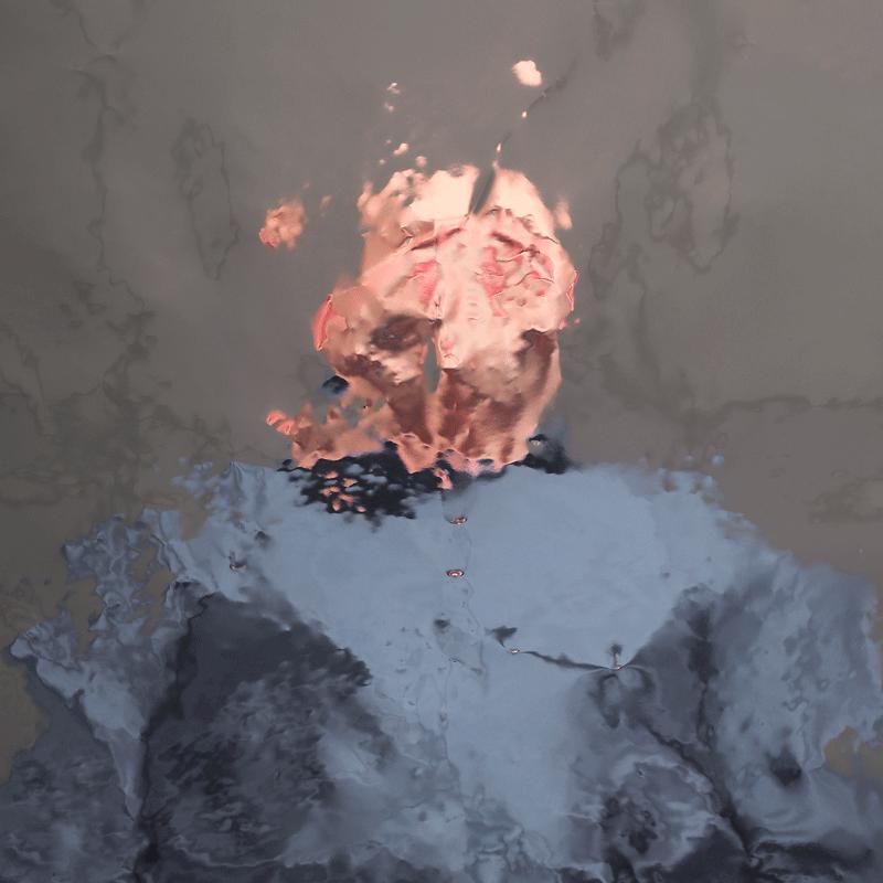 photo portait couleur déformé déflagration