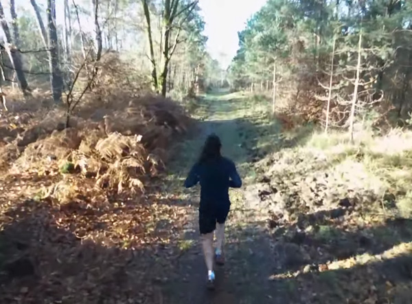Running with my drone
