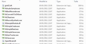The OpenNI sample folder
