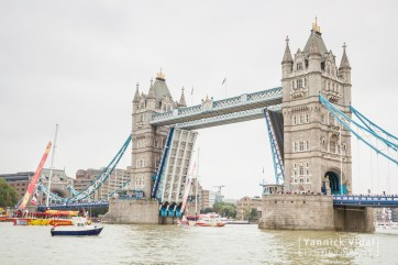 Tower Bridge salutes the fleet