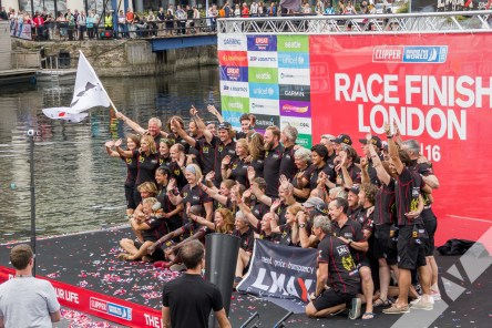 LMAX Exchange crew, winners of the Clipper Round the World 2015-16