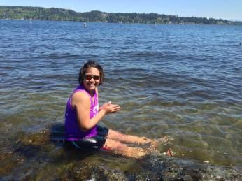 Me - Ice Bathing at Lake Washington