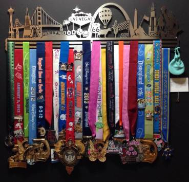 Awesome medal rack.  No, medals are NOT included