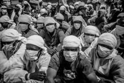 Sardaigne, 26.05.2016, les refugies doivent porter le masque suite a la detection d'un cas de tuberculose.
