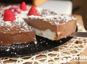 "Mousse cake de chocolate ""fit"""