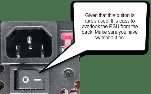 computer wont turn on psu switch
