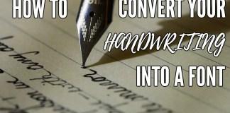 turn handwriting into font