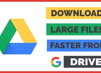 how to download large files faster from google drive