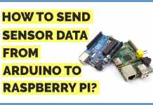 how to send sensor data from arduino to raspberry pi