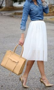 юбка из льняной ткани