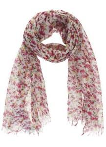 шарф с цветочным принтом