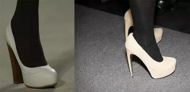 не носите колготки с белой и бежевой обувью