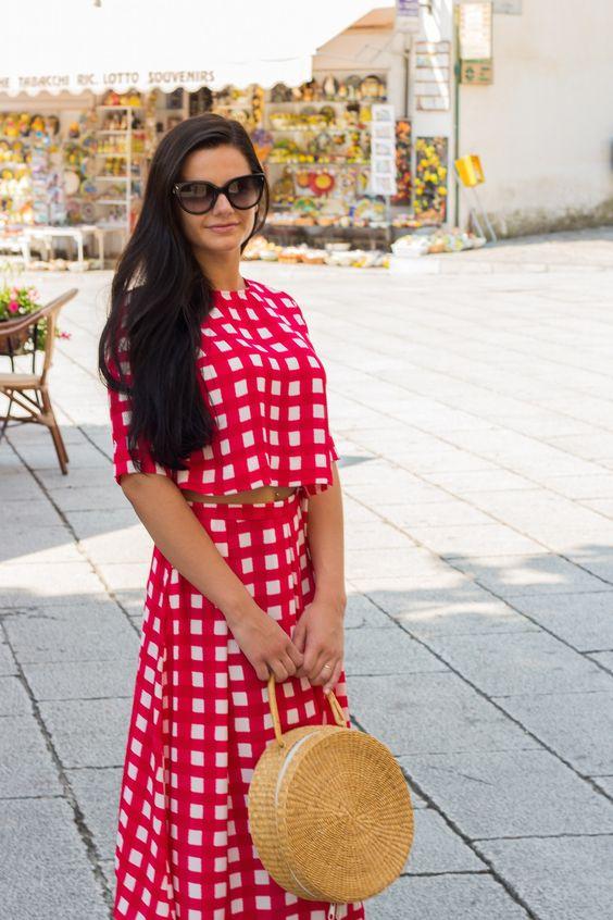 плетенная сумка с чем носить