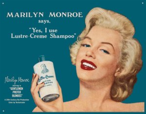 реклама косметики в 50-х