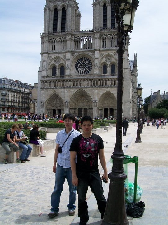 Outside Notre Dame, the sun was blinding.