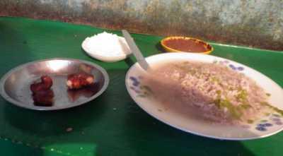 マダガスカルの朝食、お粥