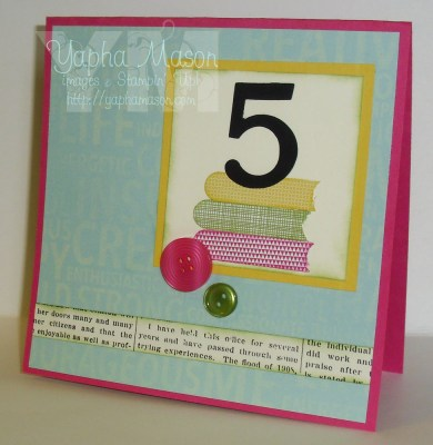 First Day of 5th Grade card by Yapha Mason