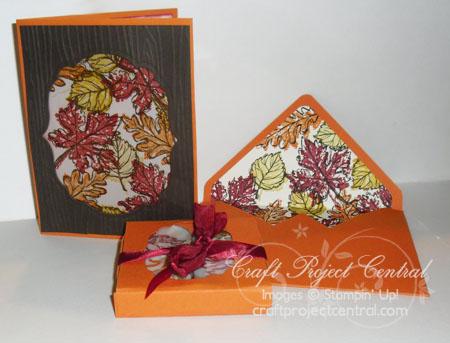 Gently Falling Card & Tea Lights