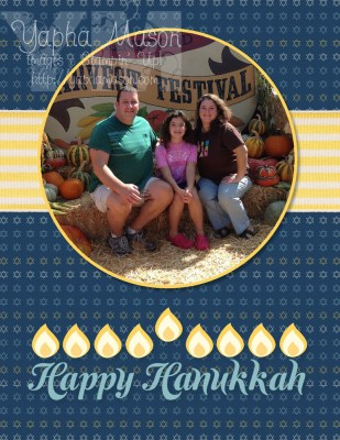 Hanukkah Photo Card by Yapha Mason