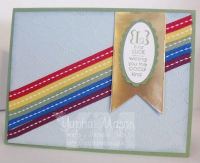 Ribbon Rainbow Luck Card by Yapha