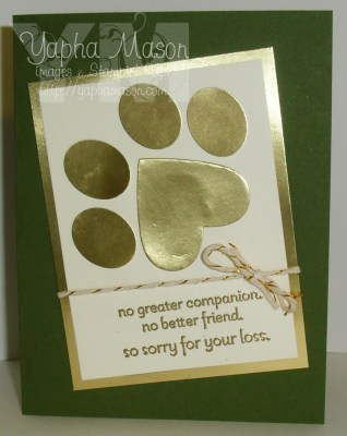 Pet Sympathy Card by Yapha
