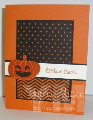 Happy Pumpkin Card by Yapha