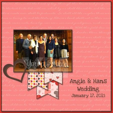 Wedding Scrapbook Page by Yapha