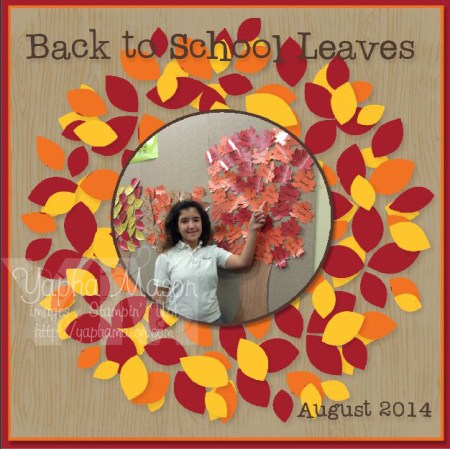 Back to School Scrapbook page by Yapha