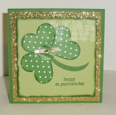 Shamrock with Heart Punches by Yapha