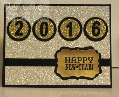 Glittery New Year's Card by Yapha