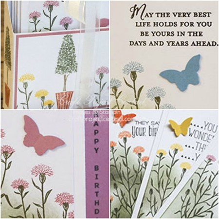 Flower Card Set with Vertical Greetings SP