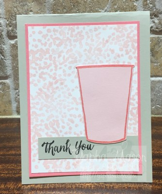 Powder Pink Plexus Thank You Card