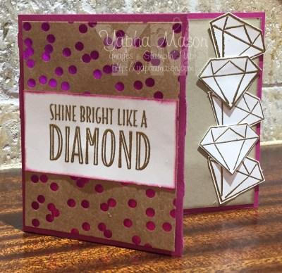 Diamond gift card holder by Yapha