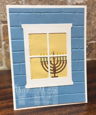 Hanukkah Window Card by Yapha