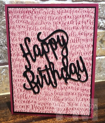 Happy Birthday with Handwritten Background by Yapha