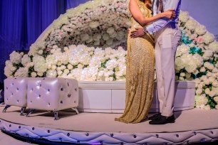 Andrew Esiebo, A high society wedding party in Lekki, an up-market district of Lagos.