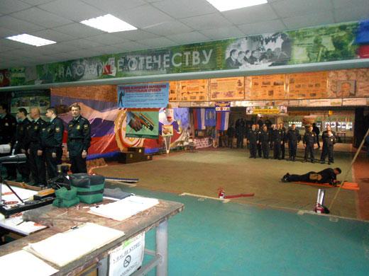 Стрелковая  галерея главная аудитория занятий.