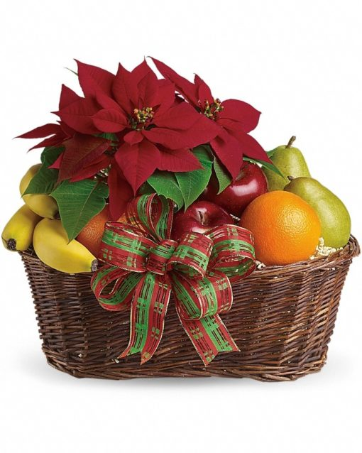 Fruit-and-Poinsettia-Basket