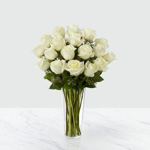 18 Long Stem White Roses
