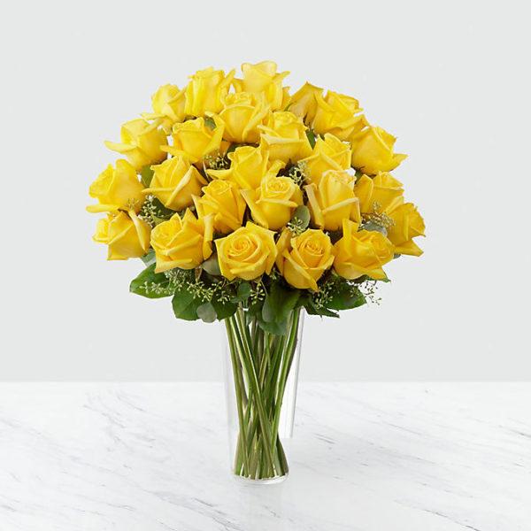 24 Long Stem Yellow Roses