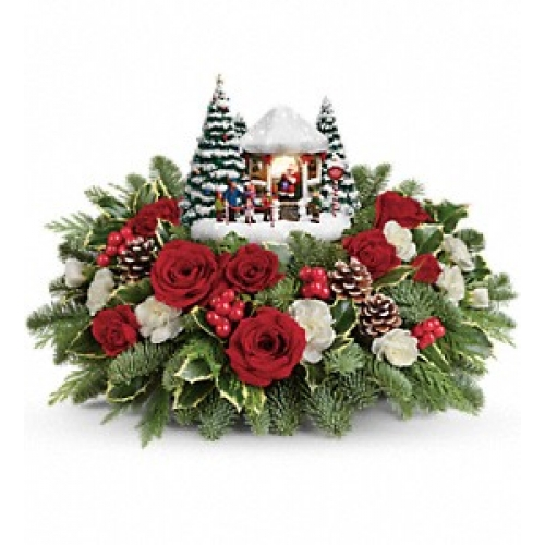 Thomas Kinkade Jolly Santa Bouquet Yara Flowers