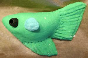 Pirog fisk til en dykkerfest