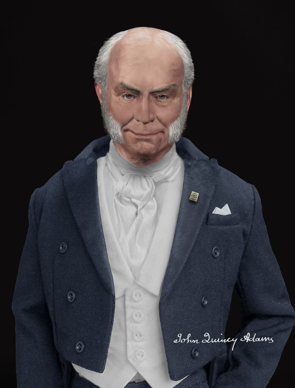 Facial Reconstruction of John Quincy Adams' life mask