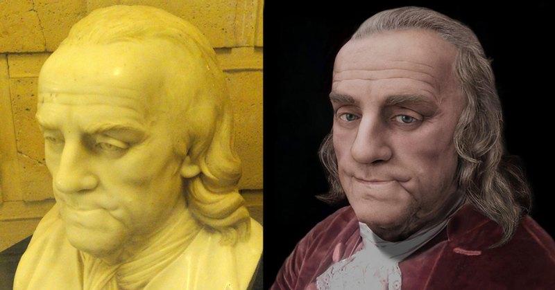 Jean-Jacques Caffieri bust of Benjamin Franklin